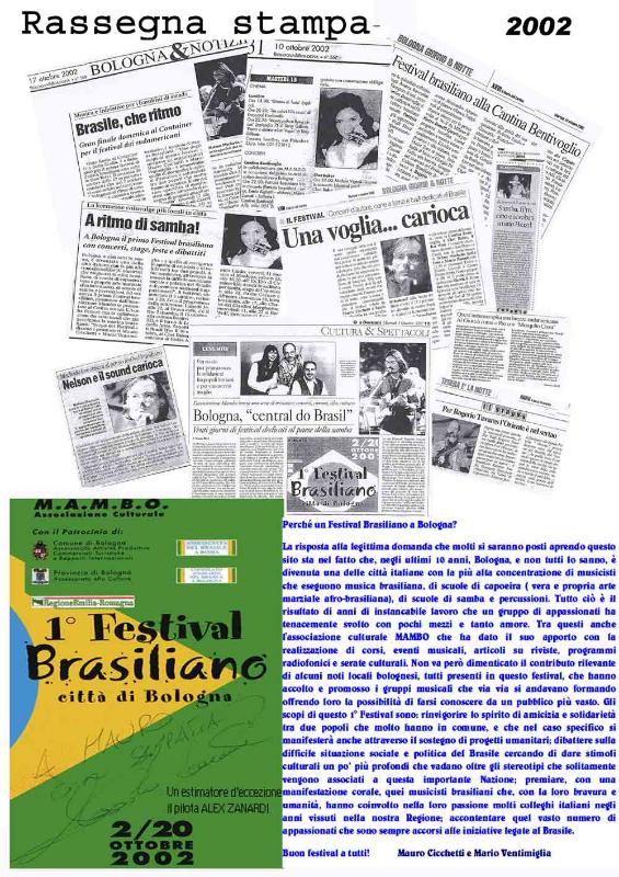 Rassegna stampa 2002 Brasil Festival