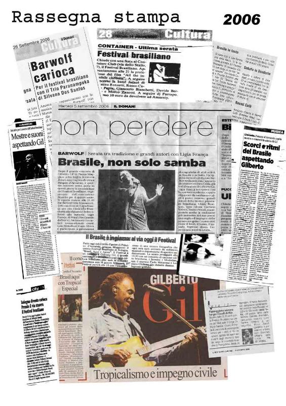 Rassegna stampa 2006 Brasil Festival