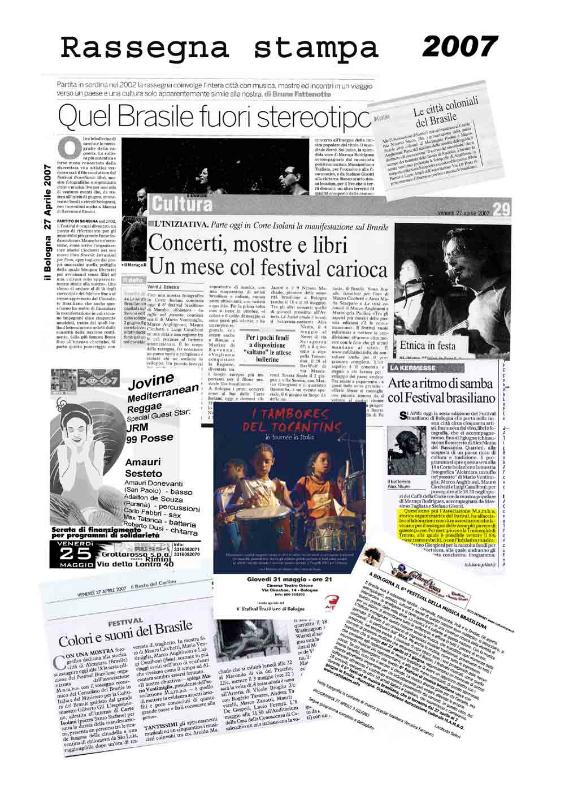 Rassegna stampa 2007 Brasil Festival