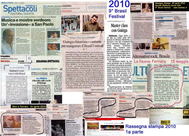 Rassegna stampa 2010 Brasil Festival
