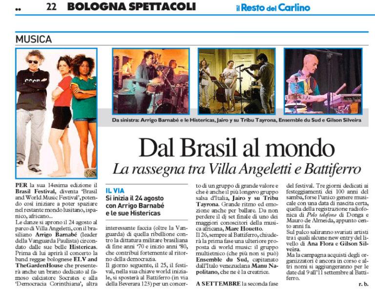 Resto del Carlino2 - Brasil Festival 2016