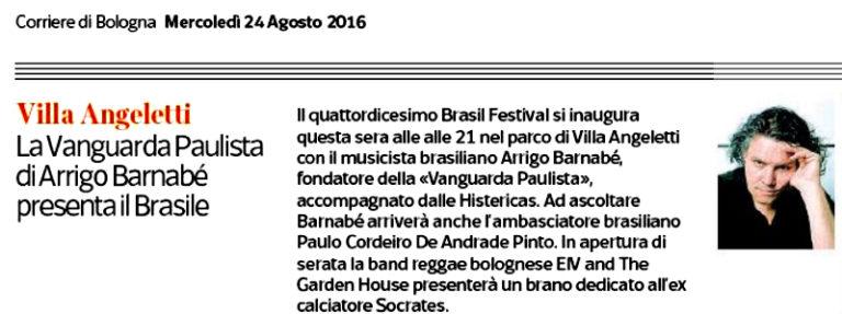 Corriere di Bologna - Brasil Festival 2016
