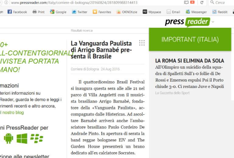 Pressreader Brasil Festival 2016